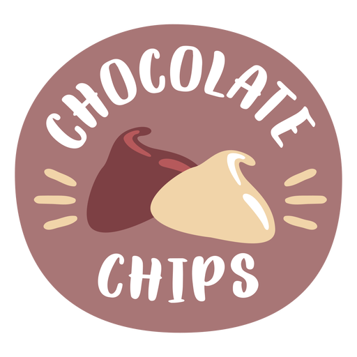 Pantry label chocolate chips colored