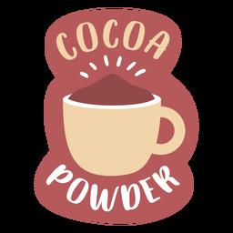 Cacao en polvo de etiqueta de despensa