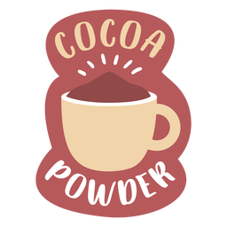 Pantry label cocoa powder