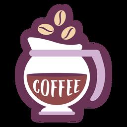 Café etiqueta de despensa