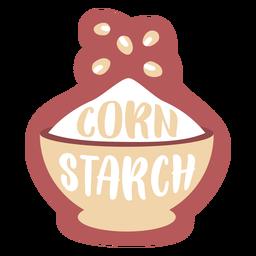 Pantry label corn starch