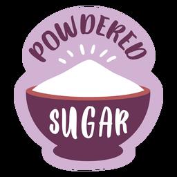 Pantry label powdered sugar