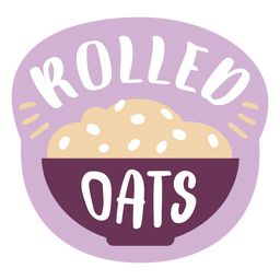 Pantry label rolled oats