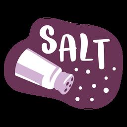 Etiqueta de despensa sal