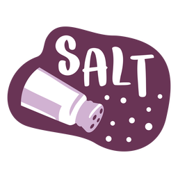 Pantry label salt