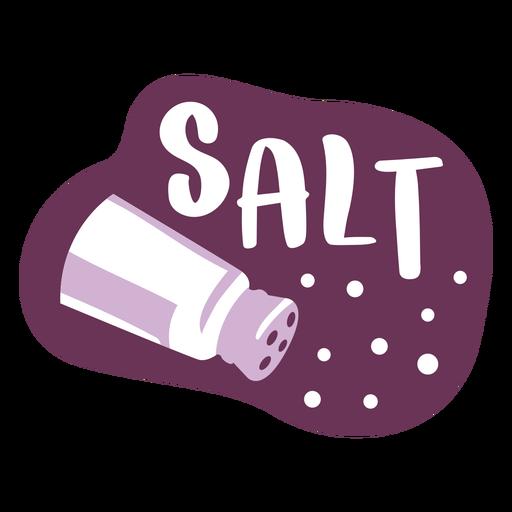 Pantry label salt