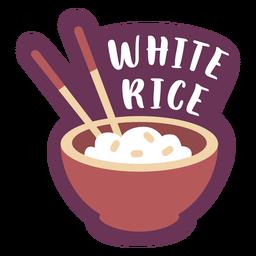 Pantry label white rice