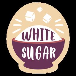 Azúcar blanco de etiqueta de despensa