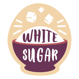 Despensa, etiqueta, azúcar blanco
