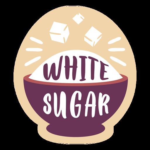 Pantry label white sugar Transparent PNG