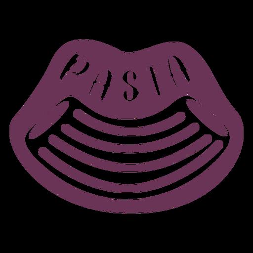 Etiqueta de pasta de despensa
