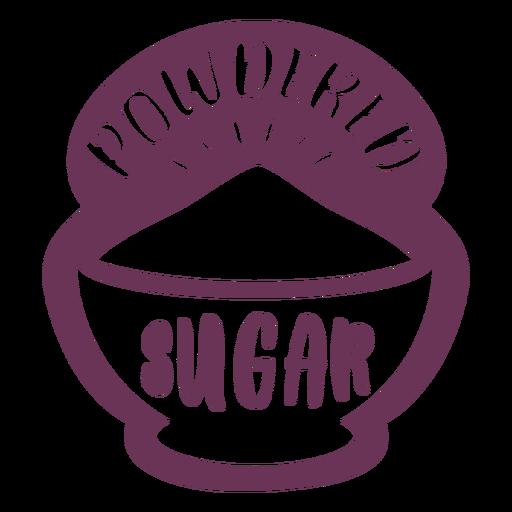 Etiqueta de azúcar en polvo de despensa