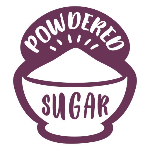 Pantry powdered sugar label Transparent PNG