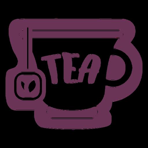 Etiqueta de té de despensa