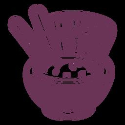 Pantry weißer Reis Etikett