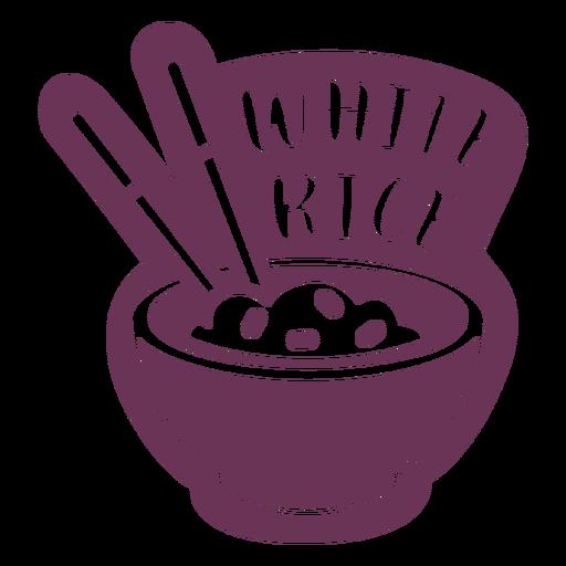 Etiqueta de arroz blanco de despensa