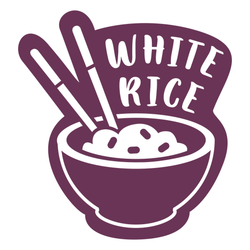 Pantry white rice label Transparent PNG