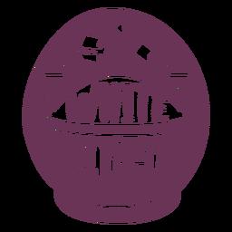 Etiqueta de despensa de azúcar blanca