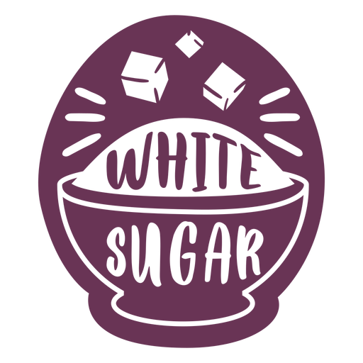 Etiqueta de azúcar blanco despensa