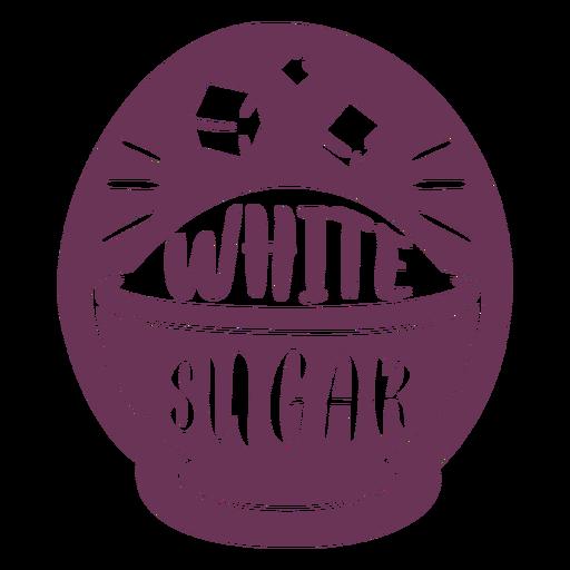 Pantry white sugar label Transparent PNG