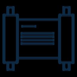 Icono de escritura de pergamino trazo