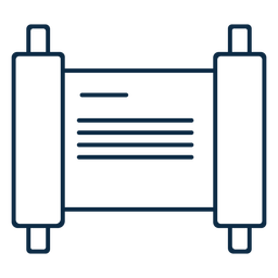 Trazo de icono de escritura de pergamino