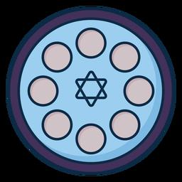 Icono de estrella de david de Pascua
