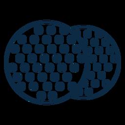Trazo de icono de elemento de Pascua