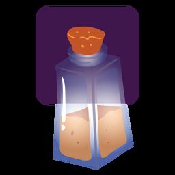 Recipiente de vidrio poción