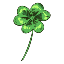 Pretty clover leaf drawn