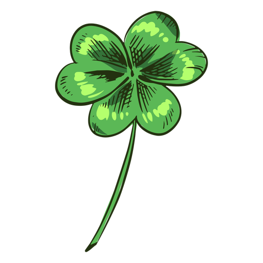 Pretty clover leaf drawn Transparent PNG