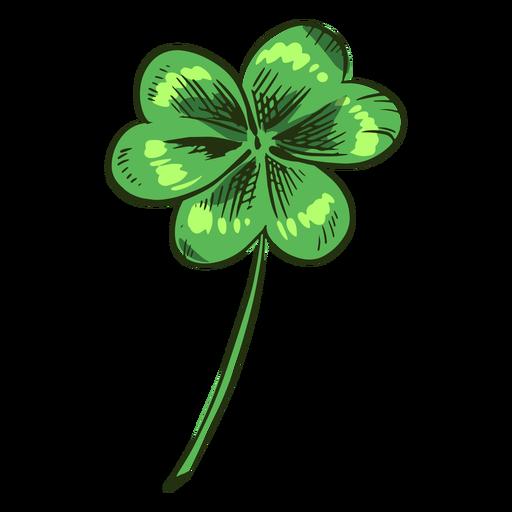 Pretty clover leaf drawn