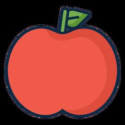 Icono simple manzana roja