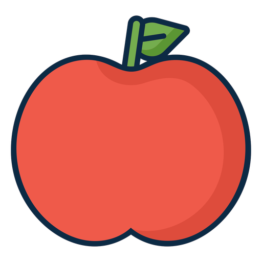 Red apple simple icon