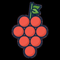 Icono de uvas rojas