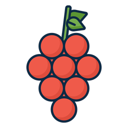 Red grapes icon