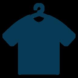 Camisa azul cabide