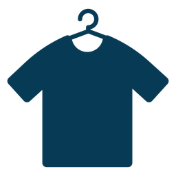 Shirt on hanger blue