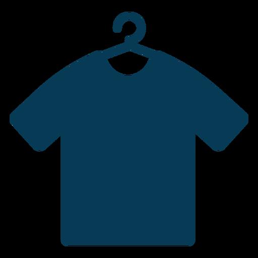 Shirt on hanger blue