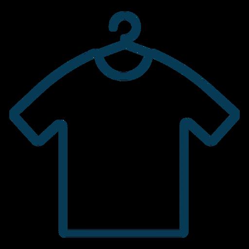 Shirt on hanger stroke