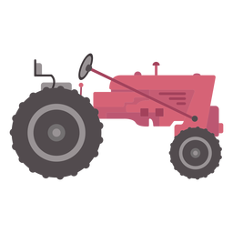 Side view tractor flat