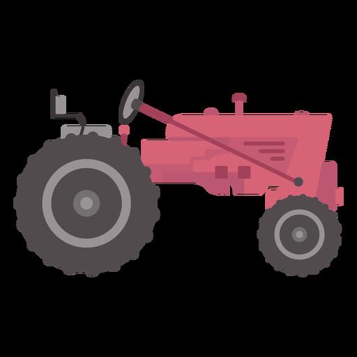 Vista lateral del tractor plano