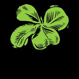 Simple clover leaf drawn