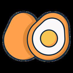 Ícone de ovo fatiado
