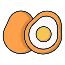 Icono de huevo en rodajas