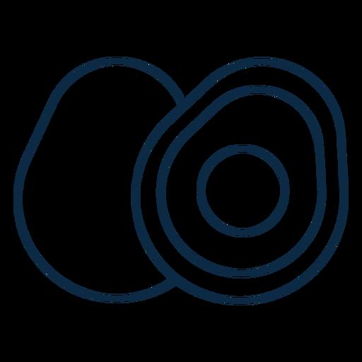 Sliced egg icon stroke