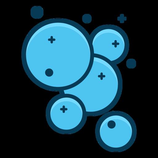 Burbujas de jabón burbujas azules