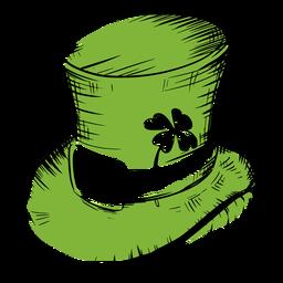 Sombrero de San Patricio con trébol verde