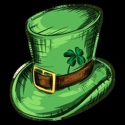 Sombrero del día de san patricio con hoja de trébol