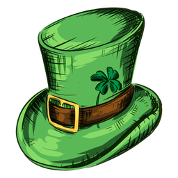 St patricks day hat with clover leaf